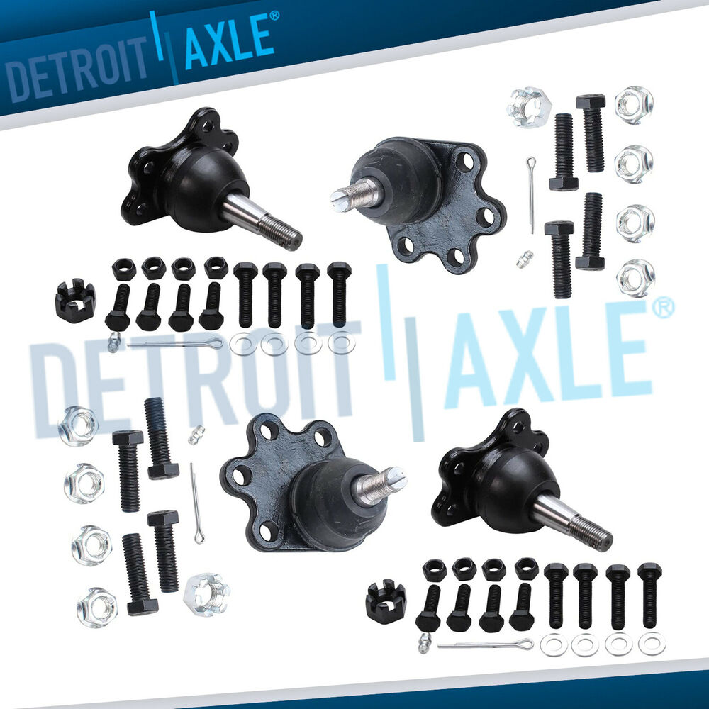 hight resolution of details about new 4pc front suspension upper and lower ball joint assembly set chevrolet 4wd