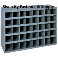 METAL 40 HOLE STORAGE BIN / CABINET FOR NUTS , BOLTS AND ...