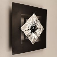 Metal Wall Sculpture Art Painting Silver Modern Abstract ...