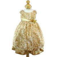 Gold Flower Girl Dress Bridesmaid Party Wedding Pageant ...