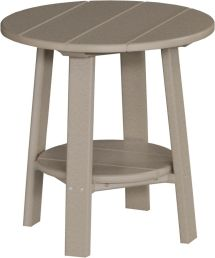 Outdoor Poly Furniture Wood Deluxe End Table Weatherwood