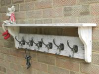 Reclaimed wood Hat and Coat Rack with shelf Rustic Rustic ...