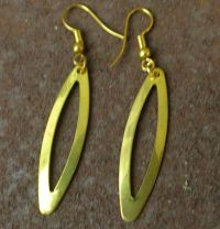 Gold tone Dangle Pierced Earrings lightweight | eBay