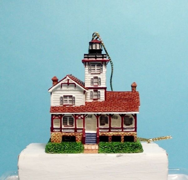 Lefton Christmas Lighthouse Ornament-13629-hereford Inlet