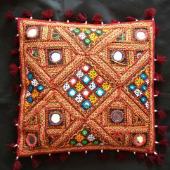 Pillow Decorative For Sofa Beds Big Dogs Indian Handicrafts Vintage Traditional Throw Cushion ...
