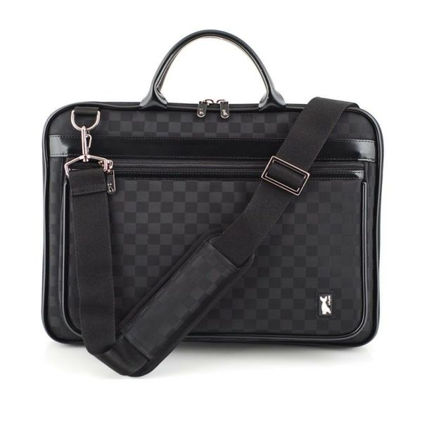 Laptop Pouch Bag Case Pattern Of Checkered Black Macbook Air 11.6 Strap