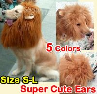 Pet Costume Lion Mane Wig Dog Cat Halloween Clothes Fancy ...