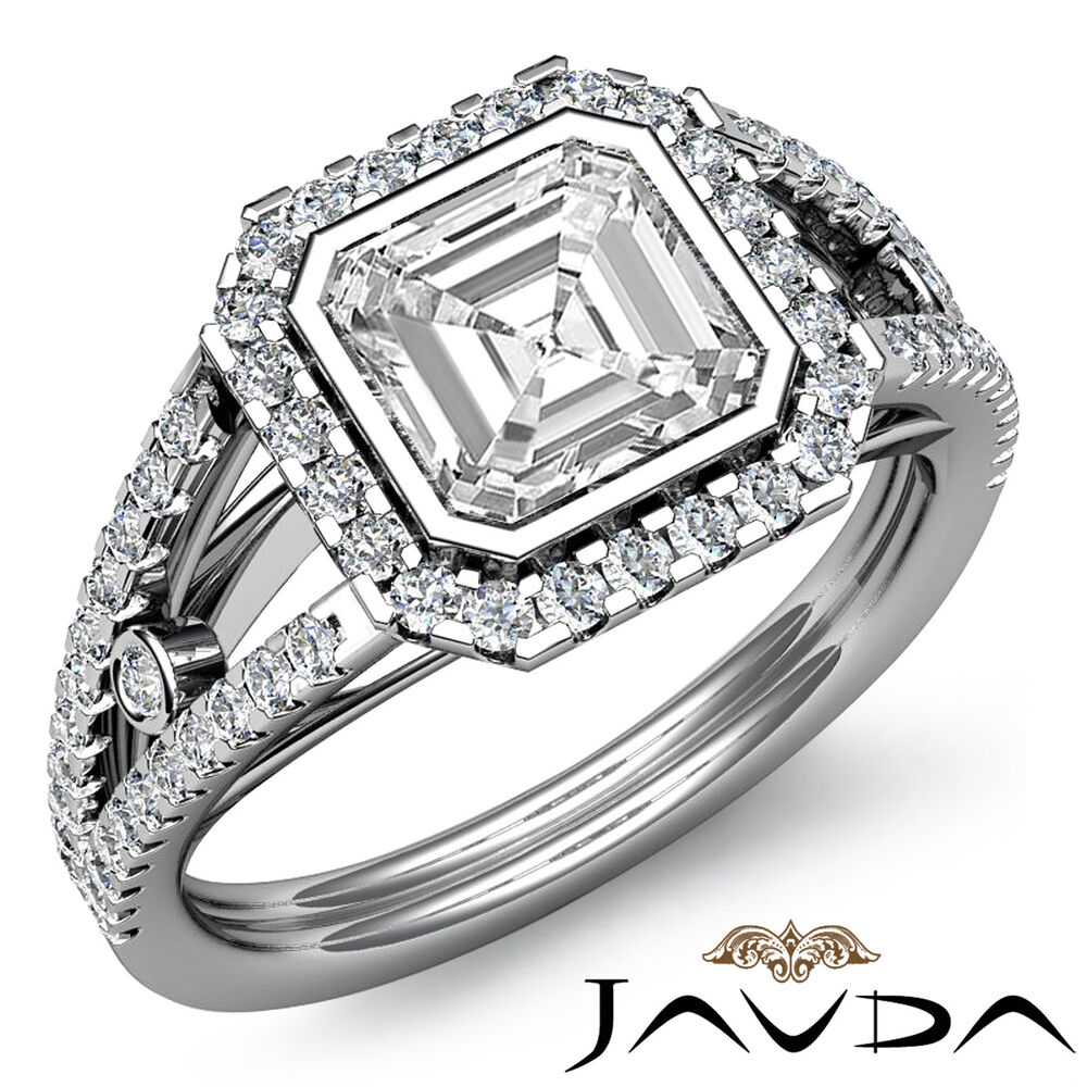 Flashy Asscher Diamond Ideal Engagement Ring GIA Certified