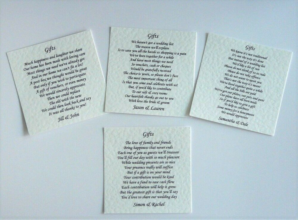 50 Wedding Poem Cards For Your Invitations