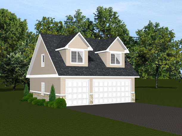 2-car Garage Plans 30x28 W/ Loft Plan 866 Sf #1395