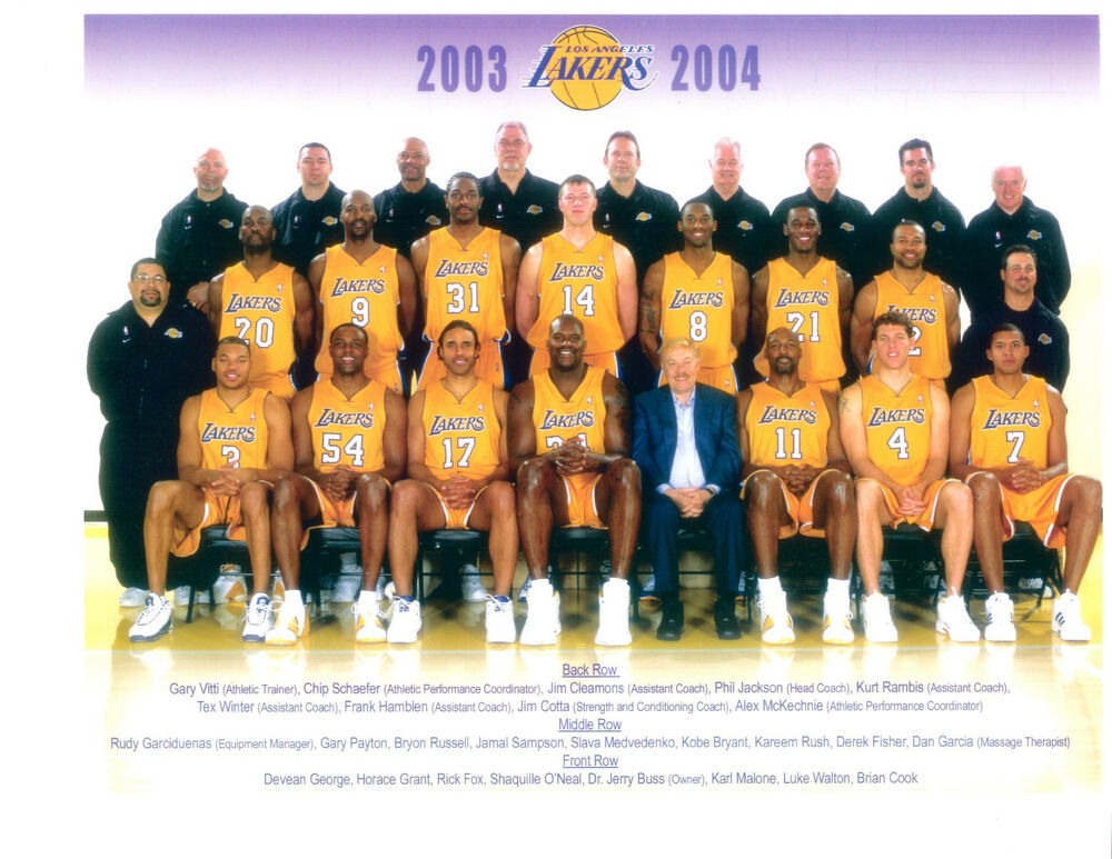 2003 2004 LOS ANGELES LAKERS TEAM PHOTO BASKETBALL BRYANT ONEAL NBA EBay