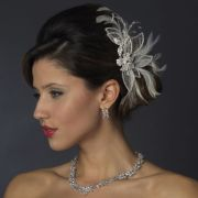 silver & white feather austrian