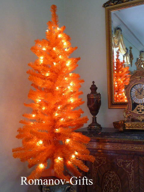 Harvest Thansgiving Halloween ORANGE Christmas Tree Pre