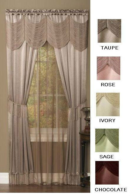 Halley Curtains Sheer And Austrian Valance Complete