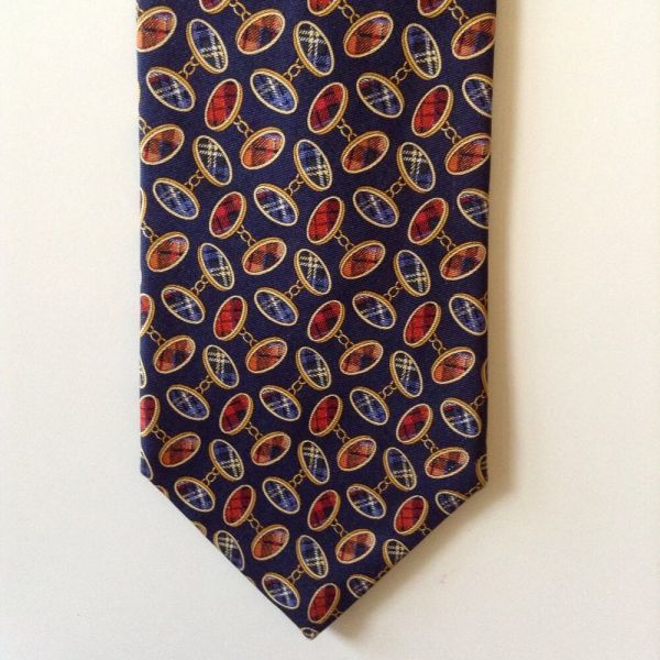 Brooks Brothers Makers Silk Mens Neck Tie Navy Blue