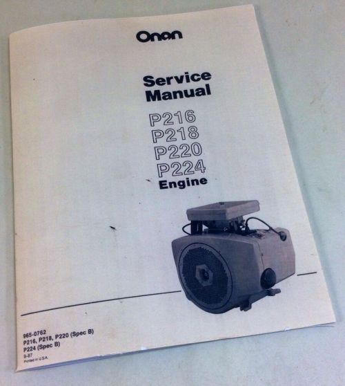 small resolution of onan p216 p218 p220 p224 engine service repair manual overhaul shop ebay