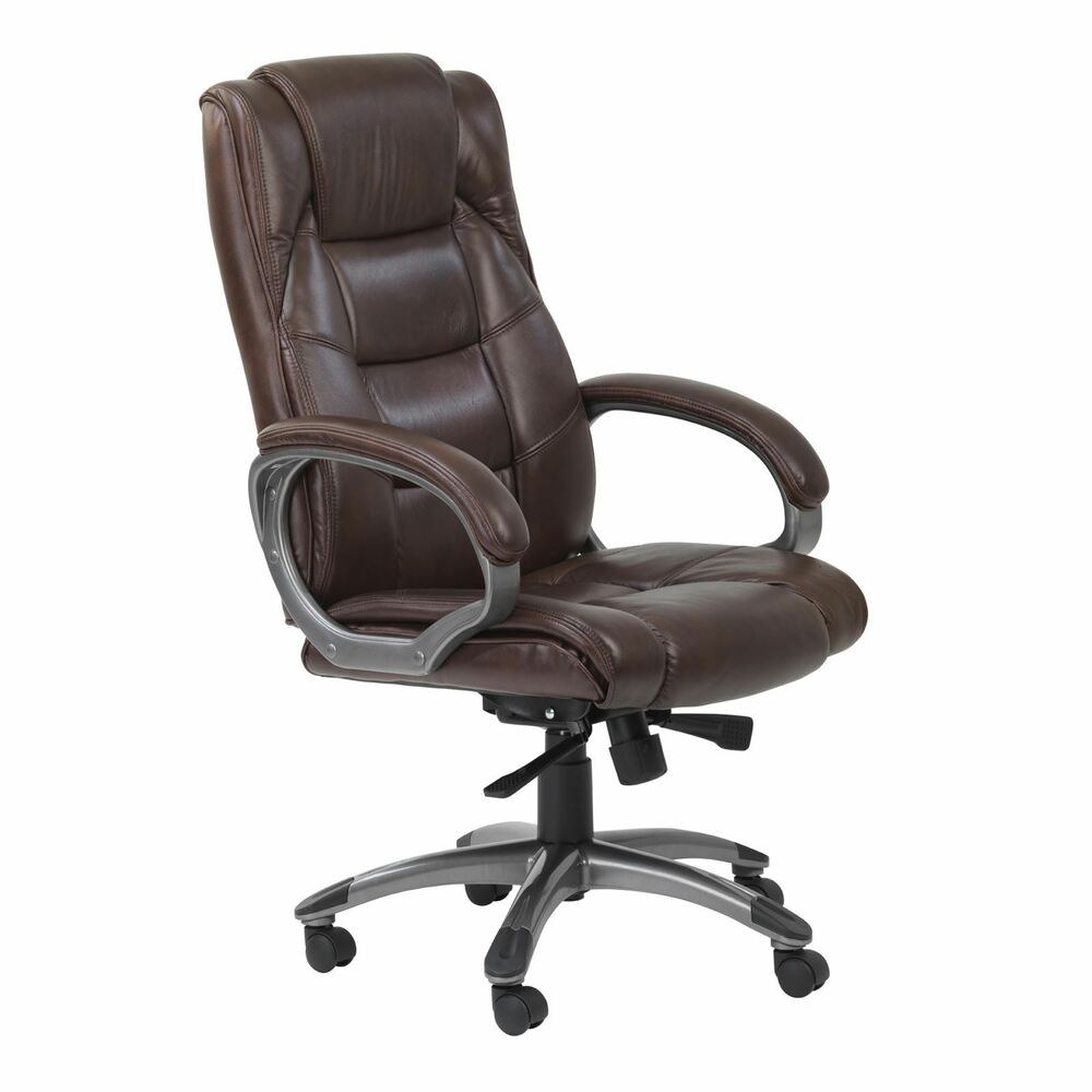 Alphason Northland Brown High Back Real Leather Executive Office Chair  eBay