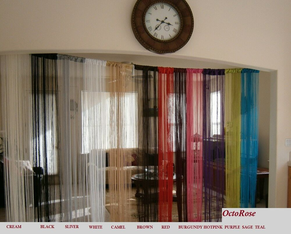 40x110 String Curtain with faux pearls for window wall