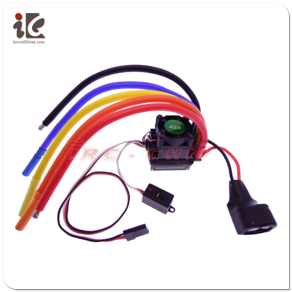 hight resolution of details about rocket brushless esc 45a 2 3s fit rc model car 1 10 car 12 awg wire