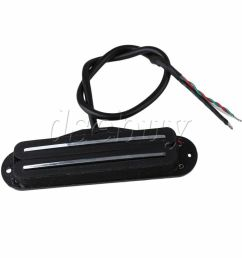 dual hot rail humbucker guitar neck pickup 4 wire ebay dual humbucker wiring diagram dual humbucker coil tap wiring [ 1000 x 1000 Pixel ]