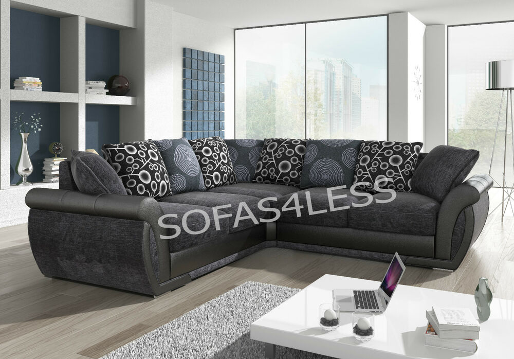 brown fabric corner sofa dfs billig online bestellen new shannon leather & - black grey ...