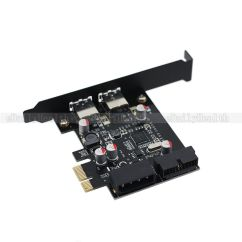 5 Pin Pci Express Adapter 02 Chevy Cavalier Radio Wiring Diagram 2 Port Usb 3.0 5gbps Nec Chipset Pci-e Addon Card With 20 Connector | Ebay