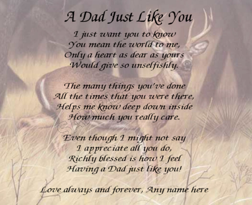 A DAD JUST LIKE YOU PERSONALIZED POEM MEMORY GIFT EBay