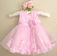 Baby Girl Pink Dress,Baby Pink Baptism, Christening