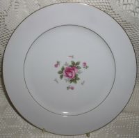 Fine China Japan Gemini Rose Dinner Plate Plates Excellent ...