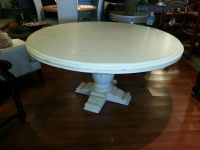 """French Country Wood 60"""" Round Mahogany Antique White ..."""