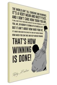 PORTRAIT ROCKY BALBOA MOVIE QUOTE CANVAS WALL ART PICTURES