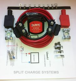 volt sensing split charge relay kit leisure battery charger 5 metre easy fit ebay [ 1000 x 981 Pixel ]