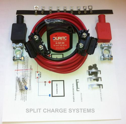small resolution of volt sensing split charge relay kit leisure battery charger 5 metre easy fit ebay