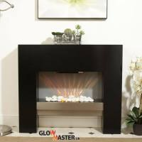 FREE STANDING ELECTRIC FIREPLACE FLICKER FLAME HEATER ...