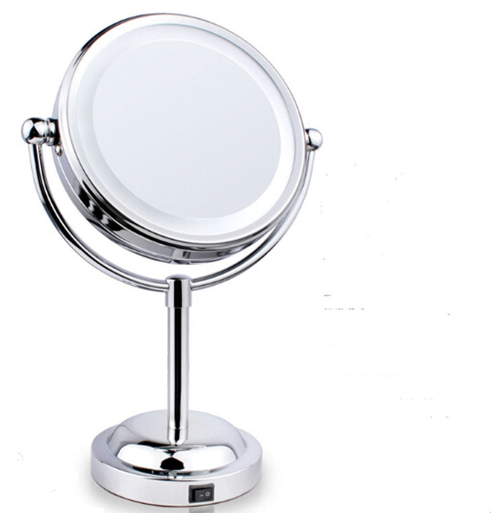 6'' 3X Beauty Makeup Mirror with light Sided Magnifying