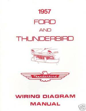 1957 FORD THUNDERBIRD WIRING DIAGRAM MANUAL | eBay