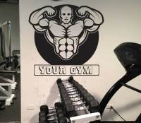 PERSONALISED GYM, LARGE WALL STICKER, Weights, Heavy ...