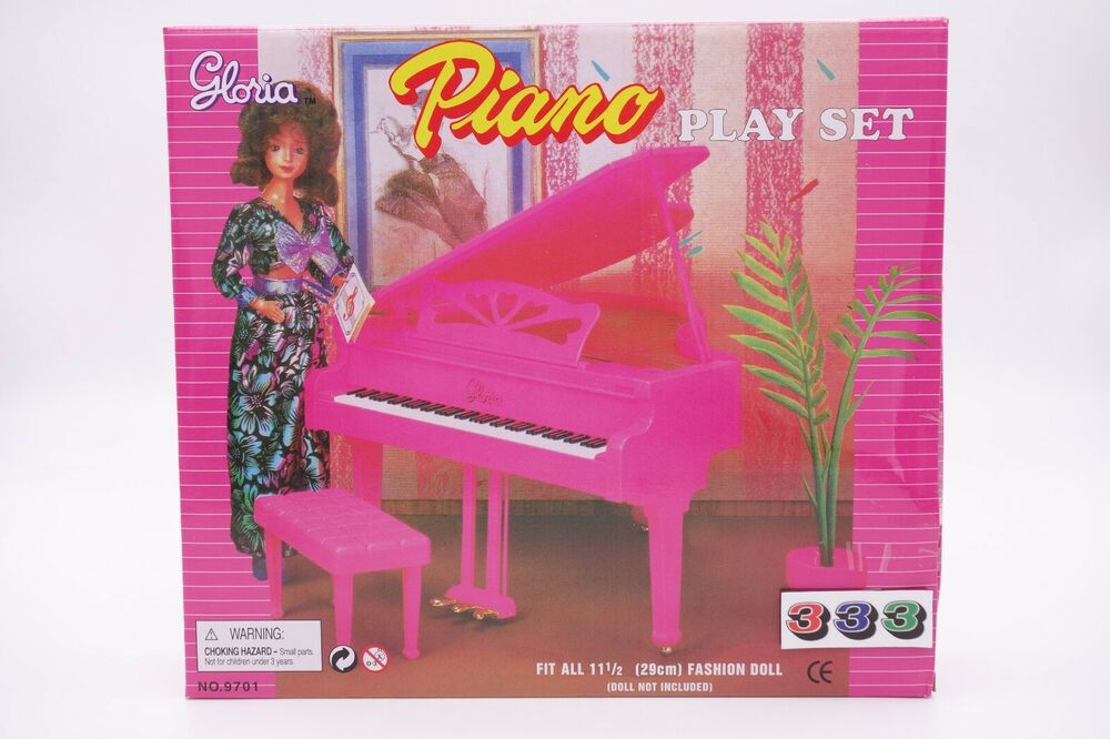 barbie kitchen playset curtains for sale gloria,barbie doll house furniture/(9701) piano play set ...