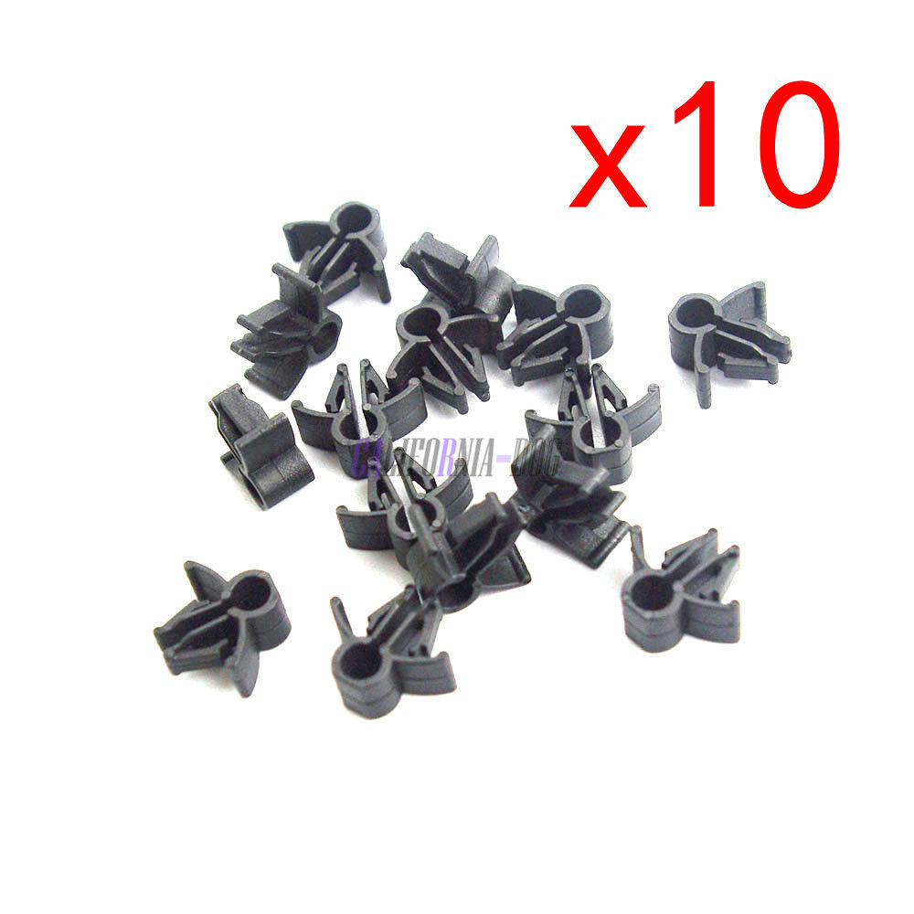 medium resolution of 10pcs wire cable loom routing harness clip retainer 90654 sa4 003 6mm for honda