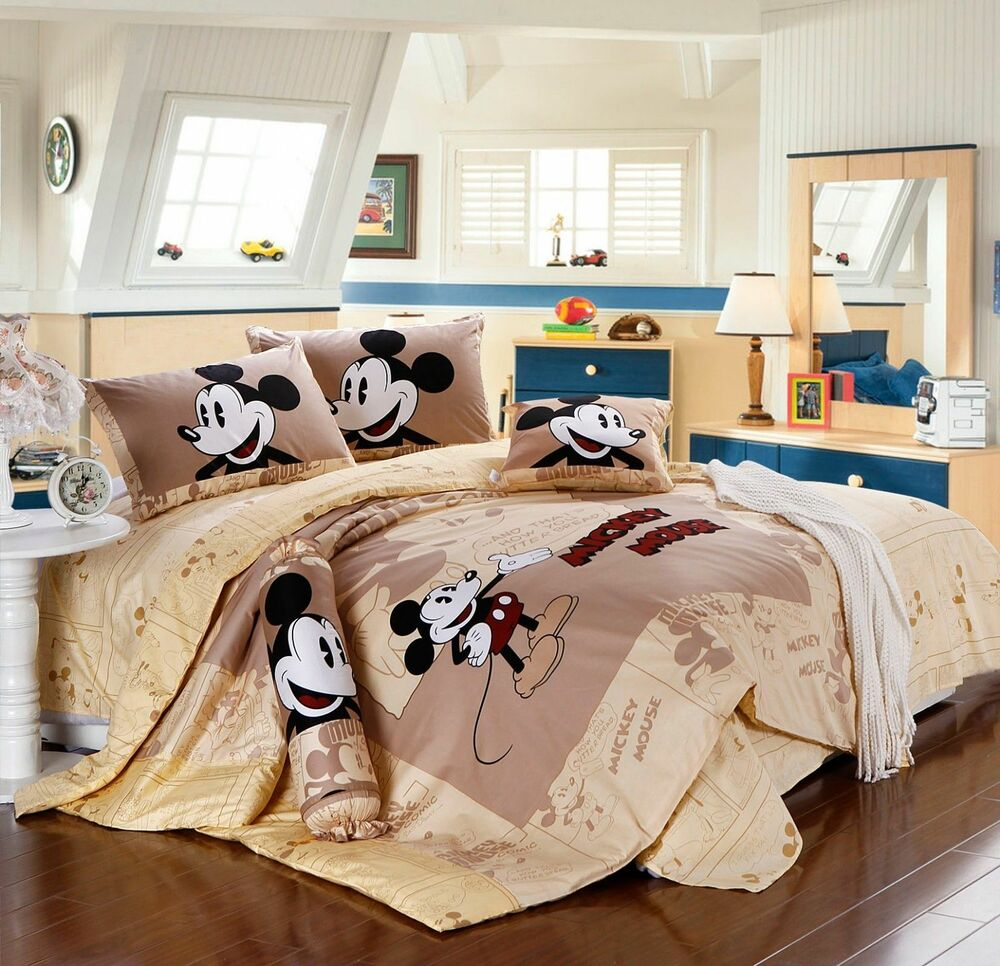 DISNEY LICENSED MICKEY MOUSE 7PCS TWIN FULL QUEEN SIZE COMFORTER IN A BAG  eBay