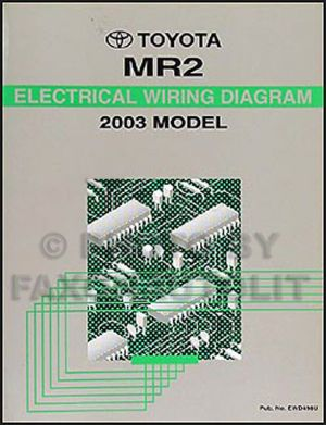NEW 2003 Toyota MR2 Wiring Diagram Manual MR 2 Electrical