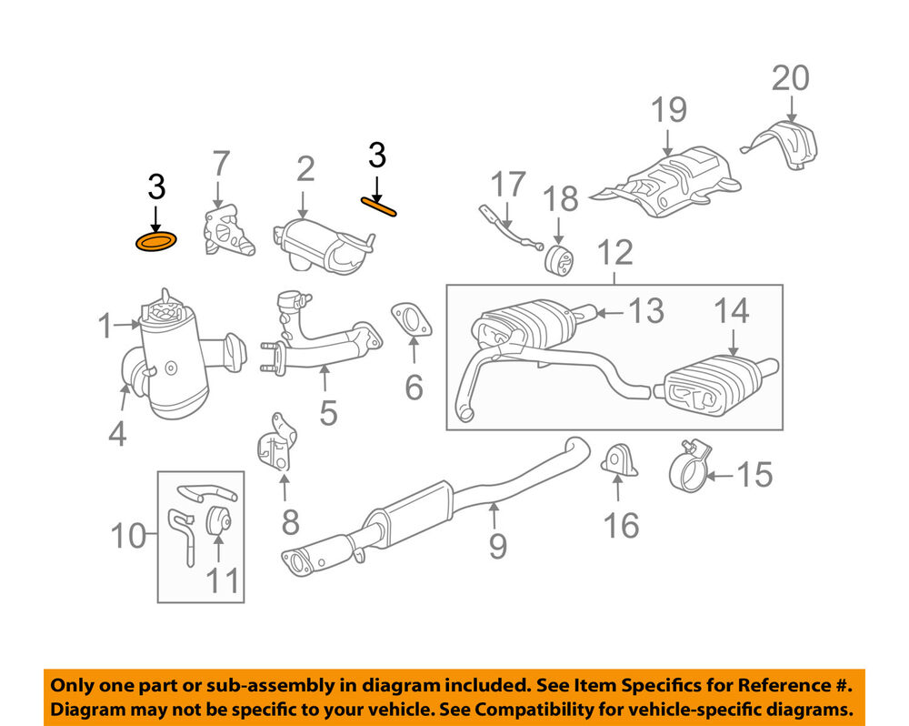 hight resolution of jaguar oem 02 08 x type 3 0l v6 exhaust catalytic convertor gasket jaguar x type exhaust diagram on 2003 jaguar type engine diagram