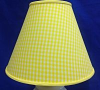 Yellow White Gingham Check Lamp Shade Lampshade