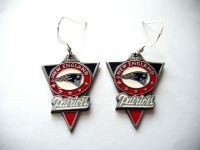 NEW ENGLAND PATRIOTS Earrings Pewter Charm Sterling ...