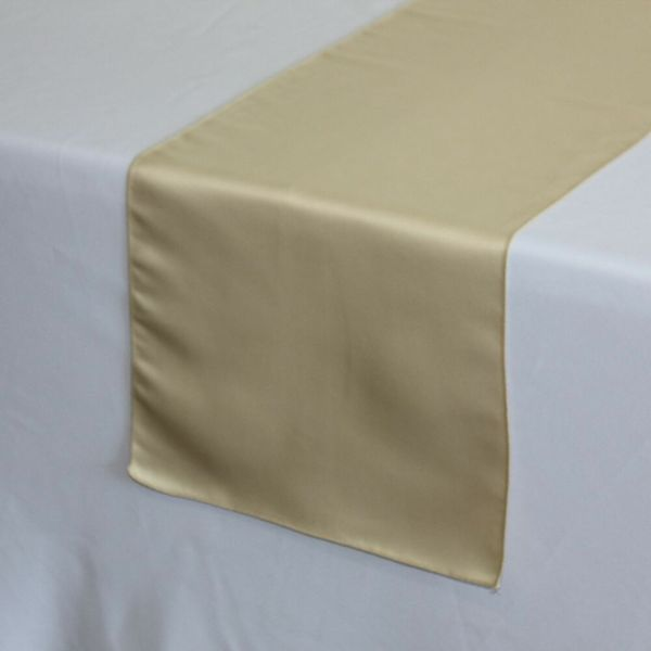 14 X 108 L'amour Satin Table Runner Champagne