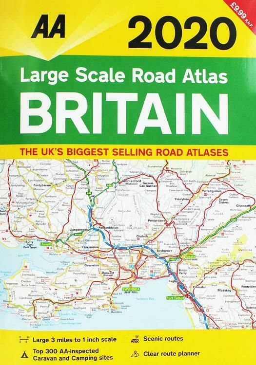 AA Large Scale Road Atlas Britain 2019 Road Map A3
