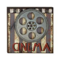 "Large 20"" Movie Reels Media Room Studio METAL & Wood Wall ..."