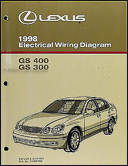 1998 Lexus GS 300 400 Wiring Diagram Manual GS300 GS400