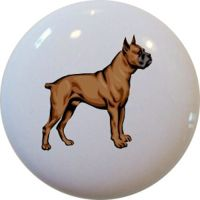 Boxer Dog CERAMIC Cabinet Drawer Pull Knob | eBay