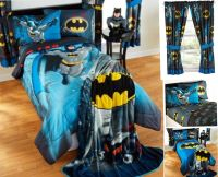 9pc DC Comics BATMAN Full-Double COMFORTER+SHEETS+CURTAINS ...
